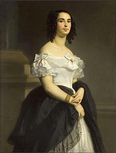 Adèle Hugo ritratta da Louis Boulanger