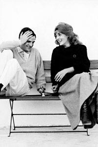 François Truffaut e Jeanne Moreau in una foto di scena
